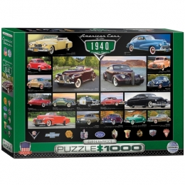 American Cars of the 1940's Jigsaw Puzzle