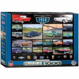 American Cars of the 1950's Jigsaw Puzzle