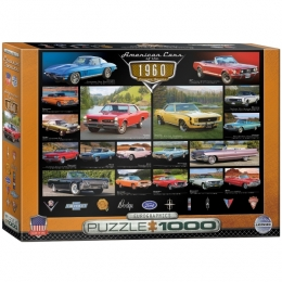 American Cars of the 1960's Jigsaw Puzzle - PZ-017P