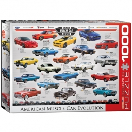 """American Muscle Car Evolution"" Jigsaw Puzzle"