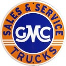 Circle Sign - GMC Sales & Service - LP-086