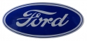 "Ford Oval Decal - 3-1/2"" - Blue/Clear"