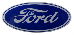 "Ford Oval Decal - 9-1/2"" - Blue/Clear"
