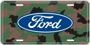License Plate - Camouflage With Ford Logo - LP-054