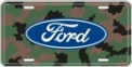 License Plate - Camouflage With Ford Logo