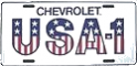 "License Plate - Chevrolet ""USA 1"""