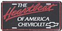 "License Plate - Chevy ""Heartbeat of America"""