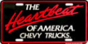 "License Plate - Chevy Truck ""Heartbeat of America"""