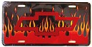 License Plate - Chevy With Flames - LP-032