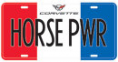"License Plate - Corvette ""HORSE POWER"""