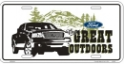 "License Plate - Ford ""The Great Outdoors"""