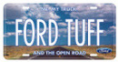 "License Plate - ""Ford Tuff"""