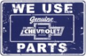 Metal Sign - Chevy Parts