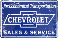 Metal Sign - Chevy Sales & Service - LP-088