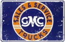 Metal Sign - GMC Sales & Service - LP-091