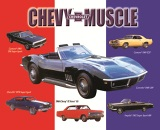 Metal Sign - Muscle Car Collage - LP-019