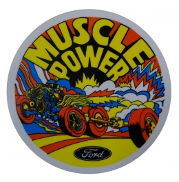 """Muscle Power"" Inside Decal"