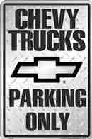 Parking Sign - Chevy Truck