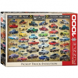 """Pickup Truck  Evolution"" Jigsaw Puzzle"