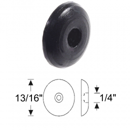 Round Bumper - Metal Core - Single Screw Hole At Center